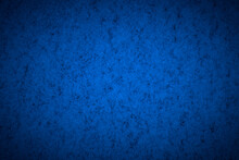 Blue Structured Background With Vignetting, Darkening Around The Edges Of The Photo.