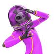 Leinwandbild Motiv alien astronaut is afraid