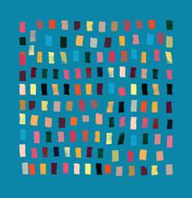 Modern Art Composition Using Brushstrokes