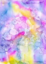 Unicorn Colours, A Watercolour Painting