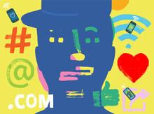 Social Media Man Illustration
