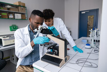 Two Scientist Analysing Modified Meat