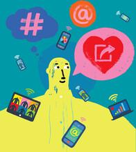 Sharing The Love, Fun Social Media Concept