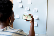 Woman Talking On Video Call