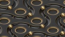 Black Ways. Gold Spheres.