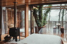 Interior Of Cozy Bedroom In House