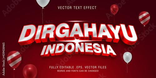 Canvastavla Dirgahayu Indonesia text style effect
