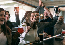 Brewery: Crowd Excited At Event On Television