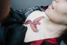 Making A Tattoo In Studio