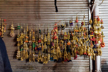 Trinkets Hang For Sale By A Street Vendor
