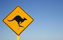 Iconic Australian Kangaroo Road Sign