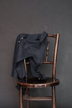 Old Wooden Chair With A Shirt