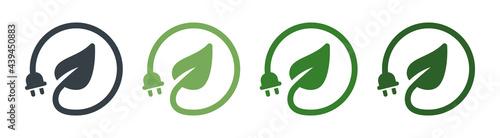 Fotografia, Obraz Renewable green energy saving icon