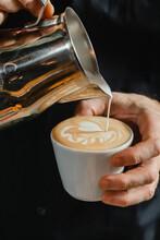 Making Cappuccino.