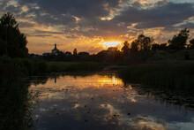 Beautiful Sunset On A River