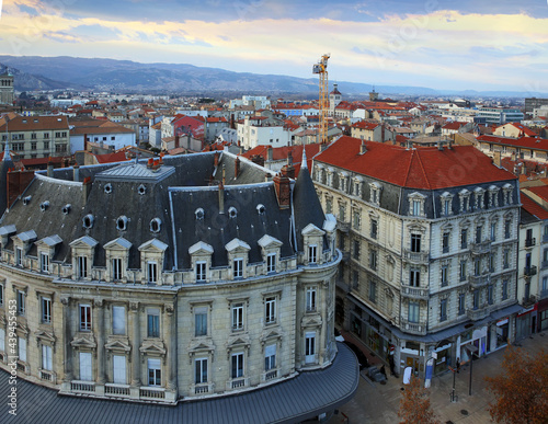Architecture of central boulevard of French town of Valence Fotobehang