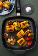 Appetizing Grilled Vegetables In Pan