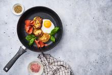 Breakfast Food Composition On Table