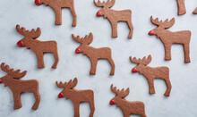 Deer Shaped Christmas Cookies