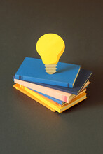 Light Bulb Over Books
