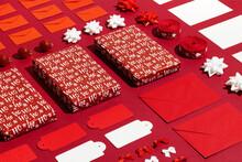 Christmas Presents Set Flat-layholiday Background