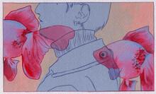 金魚の揺蕩う