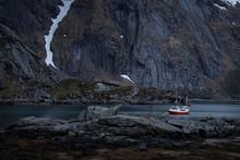 Landscapes Of Lofoten, Fishing Boat In A Fjord