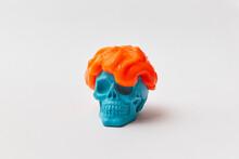 Slime On Blue Skull