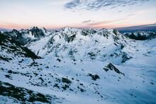 Blue Hour Magic Mountain Panorama
