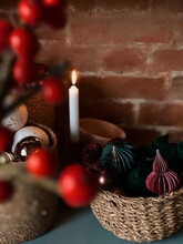 Stylish Christmas Decor  In Red Colours