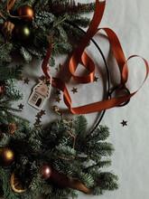 Preparing A Christmas Wreath