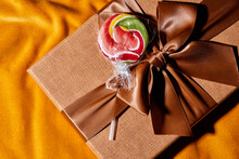 Gift Box And Lollipop