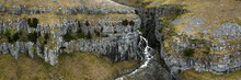 Malham Cove Gordale Scare Waterfall Aerial
