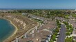 Aerial view of cliff side housing in Newport Beach, California