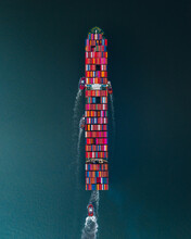 Container Ship From Above