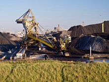 Fossil Fuel Carbon Economy, Piles Of Coal For Energy Production