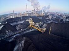 Anthropocene - Aerial Shot, Coal Mine, Steelworks Factory Emissions Pollution