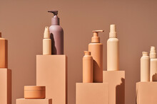 Composition Of Boxes And Cosmetic Bottles