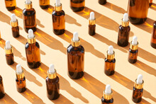 Composition Of Bottles With Essential Oils