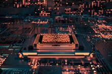 Isometric CPU Chip
