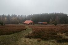 Old Barn In Heath In Autumn