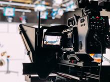 Professional Video Camera In TV Studio
