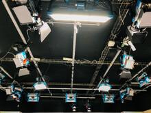 Lightning Equipment Under Ceiling In TV Studio