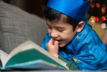 Happy Child Reading Book