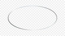 Silver Glowing Oval Shape Frame