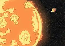 Sun And Saturn Illustration