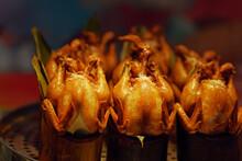 Roast Chicken In Bamboo Tube