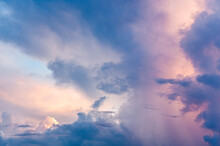 Pink, Yellow And Blue Cloud