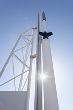 Rocket At Woomera. South Australia.