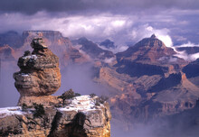 Snowstorm Grand Canyon, Film Capture Panoramic 35-mm.